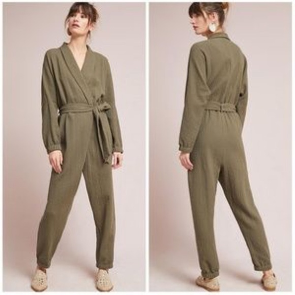 55d62b48f762 Anthropologie Pants - 🆕 Anthropologie Hei Hei Benna Wrap Jumpsuit
